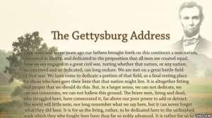 Diễn văn Gettysburg, của Tổng thống Abraham Lincoln