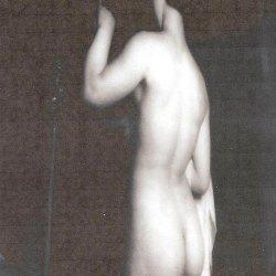 Gaetan Viaris – D'après le « coucher de Sapho » de Charles Gleyre, 1867. Musée de Lausanne. 100×100. Tirage baryté.