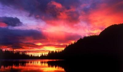 Sunset Reflection Nature Wallpaper 587 1024x600 - Wallpaper - HD Wallpaper