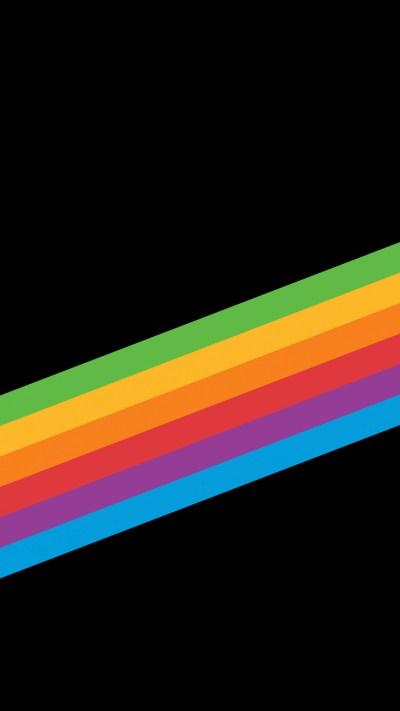 Heritage Rainbow Stripe iPhone X iPhone 8 iOS 11 Stock Wallpapers   HD Wallpapers   ID #21565