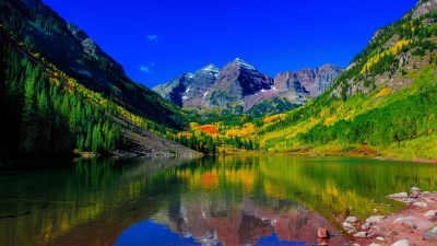 Maroon Bells Peaks Colorado 5K Wallpapers | HD Wallpapers | ID #18643