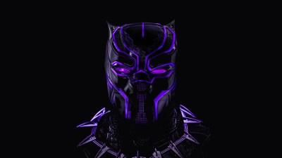 Black Panther Neon Artwork 5K Wallpapers   HD Wallpapers   ID #23294