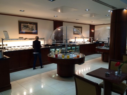Emirates London lounge buffet review