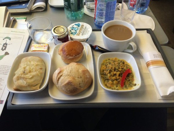 Eurostar Business Premier food