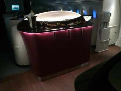 Qatar Airways 787 business class review - bar big