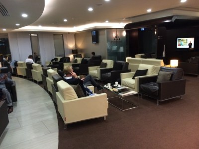 Etihad lounge Heathrow Terminal 4 review