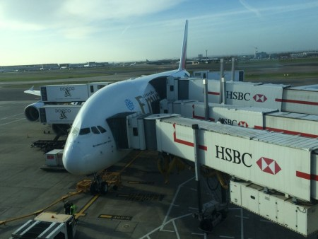 Emirates A380 business class review boarding