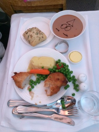 Emirates A380 business class review childrens food