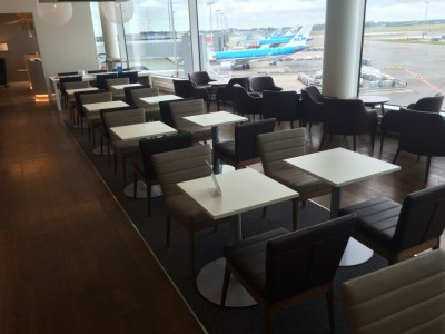 British Airways lounge Amsterdam Schiphol