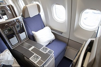 Brussels Airlines business class seat