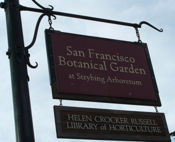 botanical garden sign
