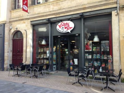 Krazy Kat comic cafe bordeaux
