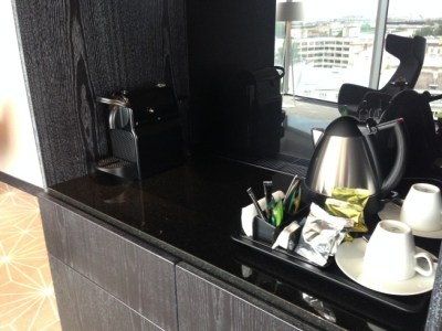 hilton tallinn park review suite room nespresso and kettle