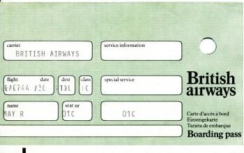 BA boarding pass