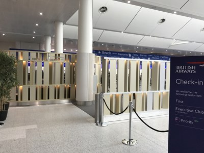Priority check in BA gatwick
