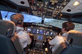 Boeing 737 flight simulator