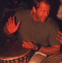 Toby Drumming in Africa