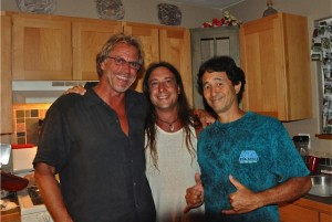 Toby with Friends John and Danny