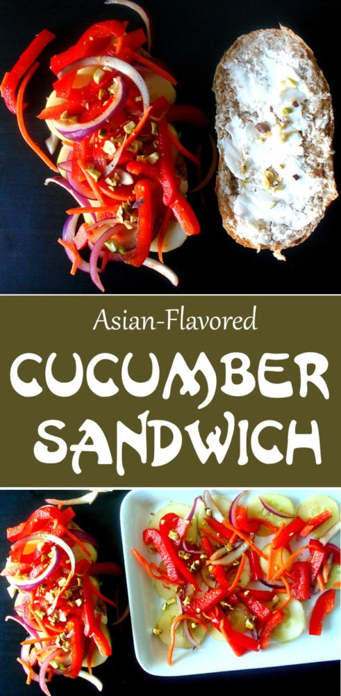 Asian Style Cucumber Sandwich - classic tea sandwich turned into a delicious summer picnic sandwich