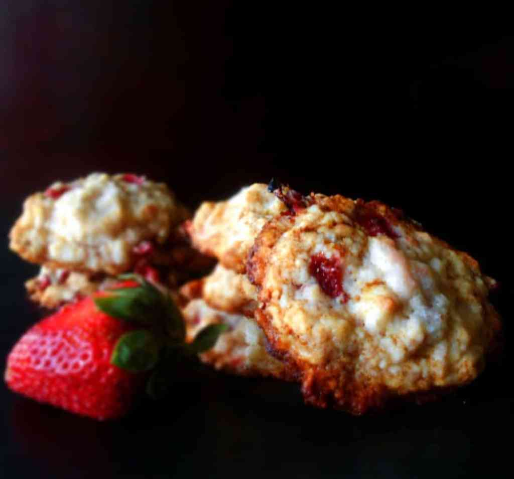 Strawberry Shortcake Cookies - This yummy cookie recipe is inspired by strawberry shortcake but without all the mess. This is a cardamom recipe and it makes all the difference