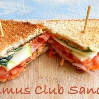 Hummus Club Sandwich Recipe (Vegan)
