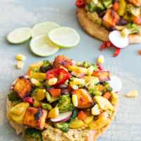 Vegan Tostada Filled To The Top!