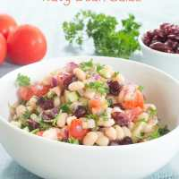 Navy Beans Salad Recipe (Vegan)