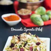 Rice Pilaf With Brussels Sprouts and Sunflower Seeds