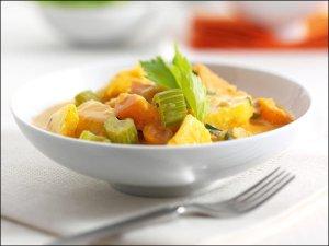Gemüsecurry mit Ananas