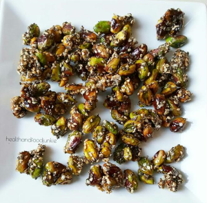 Pistachio and Seed Brittle