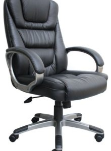 The Boss Black Leather Best Ergonomic Office Chair
