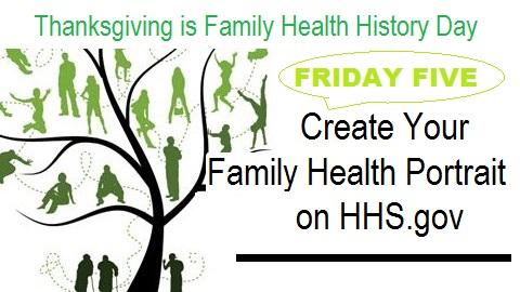 The Friday Five – Family Health History Day