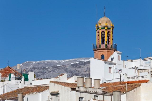 Competa white village scene, Andalusia, Spain