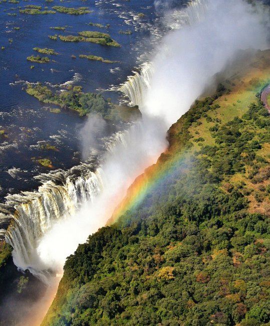 Victoria Falls seen from above, Zimbabwe