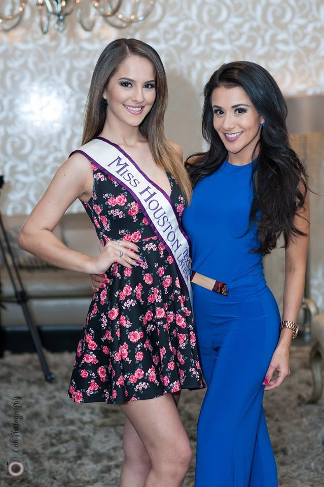 Current Miss Houston Latina Alma Alvarez and 2014 Miss Houston and Miss Texas Latina Natalia Castillo, who is now city director of the pageant
