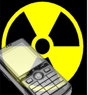 Mobile Phone and Radiation Sign