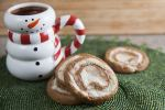 peppermint gingerbread pinwheels
