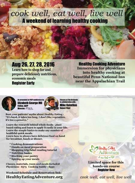 healthy cooking adventure - an immersion for physicians