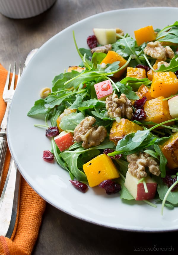 Paleo Fall Salad with Cranberry Vinaigrette