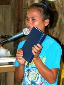 Angga exhorting
