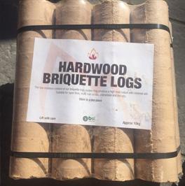 HARDWOOD BRIQUETTE LOGS