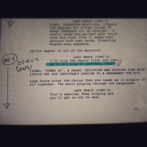 A page from the script 'Emergency Story Penguin'