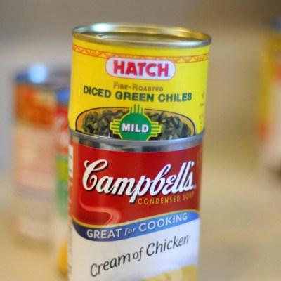 Green Chile Sour Cream Enchiladas