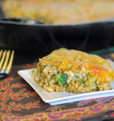 Cheesy Broccoli and Brown Rice Casserole