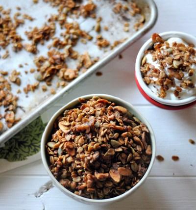 Maple-Sweetened Nutty Granola