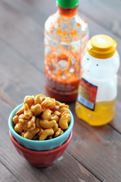 Honey Sriracha Cashews
