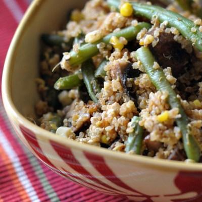 Quick Leftover Fried Quinoa