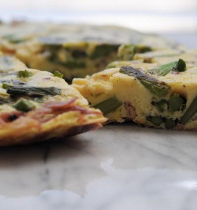 Seared Prosciutto & Toasted Asparagus Frittata