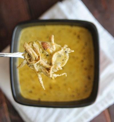 Secret Ingredient Green Chile Chicken Soup