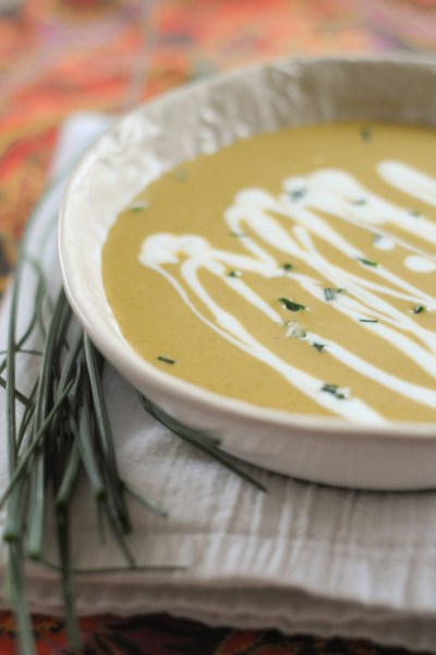 Velvety Asparagus Soup with Crème Fraîche